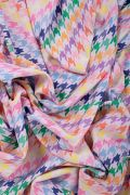 Tecido Alfaiataria Dior Estampa Doncella Pied de Coq Colorido