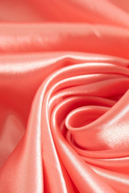 Tecido Cetim Span Coral Rosado Claro