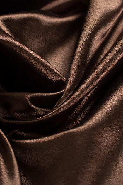 Tecido Cetim Span Marrom Chocolate Escuro