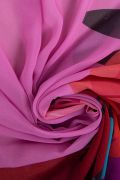 Tecido Crepe Georgete Doncella Estampa Pareô Floral - 1,50m