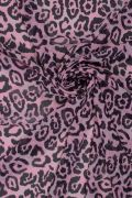 Tecido Crepe Georgete Estampa Doncella Animal Print Rosa