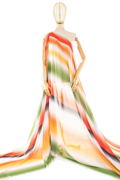 Tecido Crepe Georgete Estampa Doncella Tie Dye