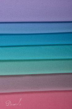 Tecido Crepe Georgete Estampa Doncella Tie Dye Lilás Azul Verde Fúcsia
