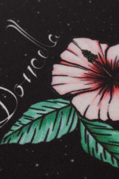 Tecido Crepe Light Estampa Doncella Preto Floral